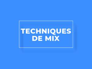 Formation Techniques de mix