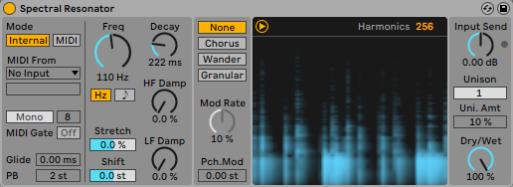 Spectral resonator DJ NETWORK